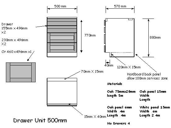 Standard Depth Kitchen Bench